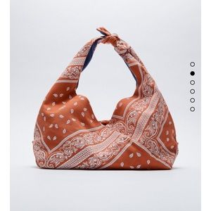- Zara bandana midi bucket bag